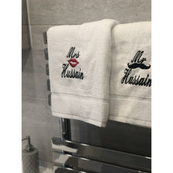 Personalised Mr and Mrs towels - any name - Ibadah London islamic muslim gift
