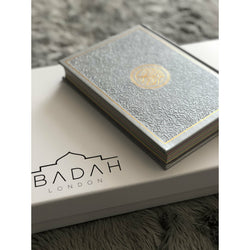 Personalised Leather Rainbow Quran - Grey