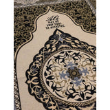 Personalised Black and Gold prayer mat - Ibadah London islamic muslim gift