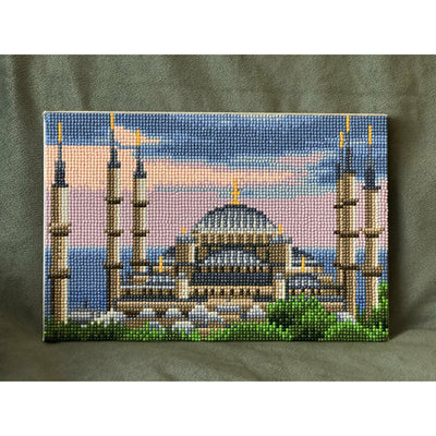 DIY Diamond Painting Art Kit - Blue Mosque - Ibadah London