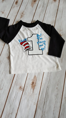 Cat in the Hat Birthday Raglan - The  Little Reasons