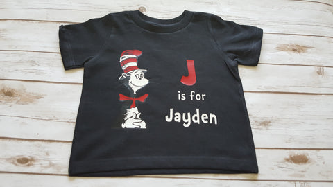 Cat In the Hat Letter Tee - The  Little Reasons