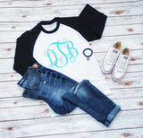 Monogram Raglan Tee - The  Little Reasons