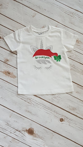 Unicorn Santa Tee - The  Little Reasons