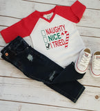 Naughty Nice, I tried Raglan - The  Little Reasons