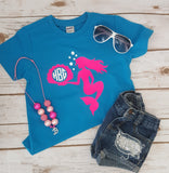 Mermaid Monogram Tee - The  Little Reasons