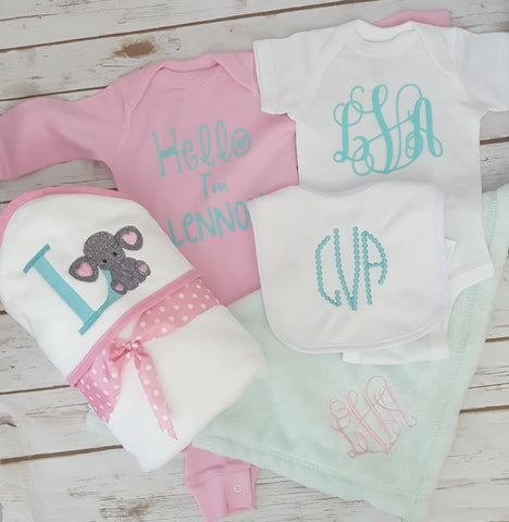 New Baby Monogram Box - The  Little Reasons