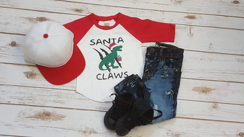 Santa Claws Raglan - The  Little Reasons