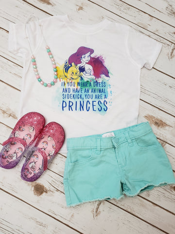 If You Wear A Dress and Have an Animal Sidekick Watercolor  Tee - The  Little Reasons