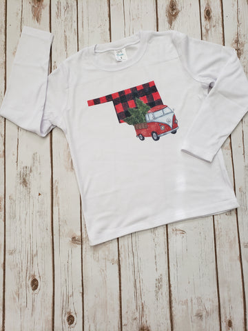 Buffalo Plaid State Christmas  Tee - The  Little Reasons