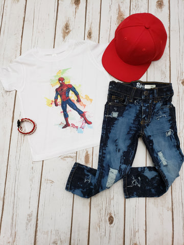 Spider-Man Watercolor Tee - The  Little Reasons