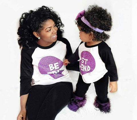 Mommy and Me Best Friend Raglan - The  Little Reasons