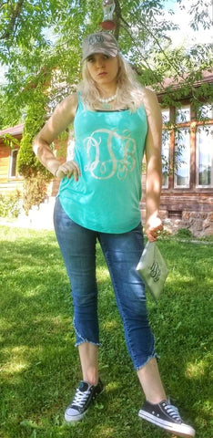 Monogram Ladies Tank - The  Little Reasons