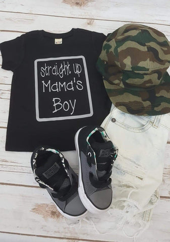 Straight Up Mama's Boy Onesie or Tshirt - The  Little Reasons