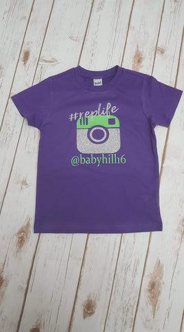 #replife Personalized Tee With Glitter - The  Little Reasons