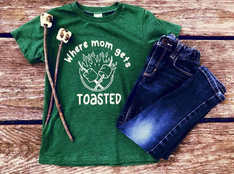 Where Mom Gets Toasted Tee - The  Little Reasons