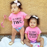 It Takes Two To Make A Thing Go Right Twin Shirt Set - The  Little Reasons