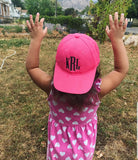 Toddler Monogram Hat - The  Little Reasons