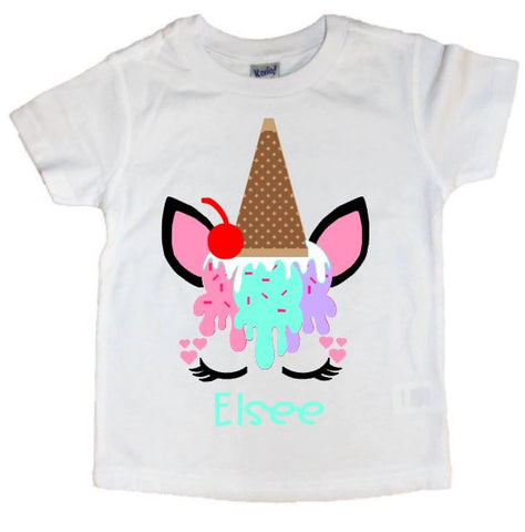 Ice Cream Unicorn Tee - The  Little Reasons