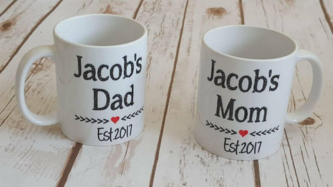 New Mom and Dad Mug Set - The  Little Reasons