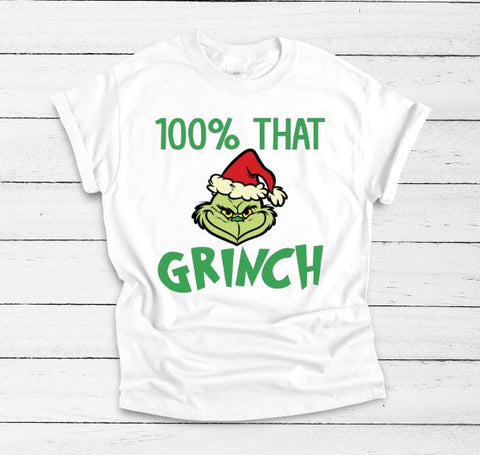 100% That Grinch Adult Tee - The  Little Reasons