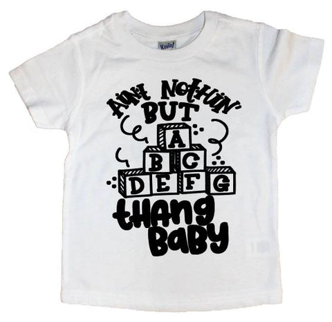 ABCDEFG Thang Baby Tee - The  Little Reasons