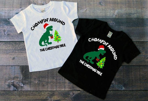 Chompin' Around The Christmas Tree Tee - The  Little Reasons