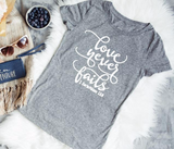 Love Never Fails Ladies Tee - The  Little Reasons