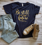 Be Still and Know Ladies Tee - The  Little Reasons