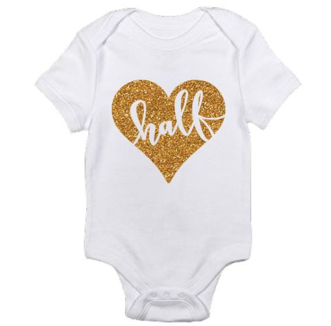 Half Birthday Onesie for baby Girl - The  Little Reasons