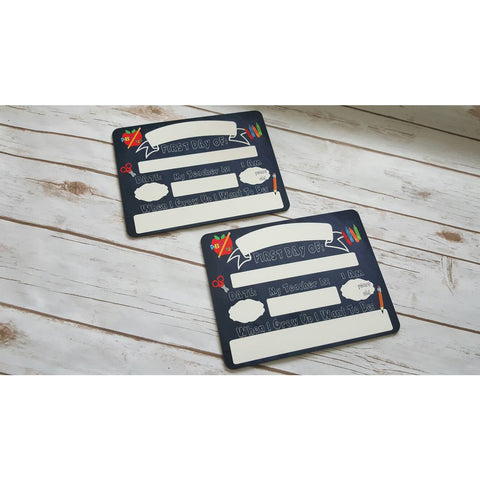 First Day of School Dry Erase sign Reusable Dry Erase Chalkboard - The  Little Reasons