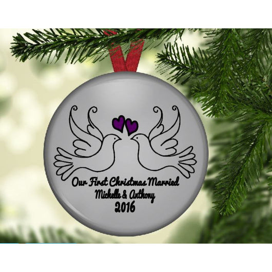 Our First Christmas Married Ornament - Our First Christmas Married Ornament €� The Little Reasons