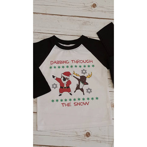 Dabbing through the snow Women's Christmas Shirt - The  Little Reasons