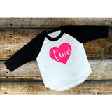 Girls Birthday Shirt - Heart With Age - The  Little Reasons