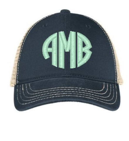 Monogram Trucker Style Snapback - Ladies - The  Little Reasons