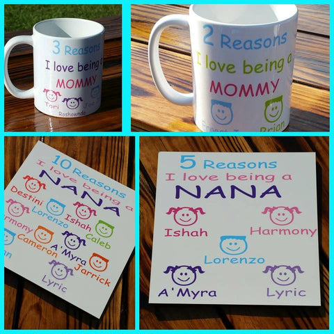 Mother's Day Gift Set Mug and Plaque Set - The  Little Reasons
