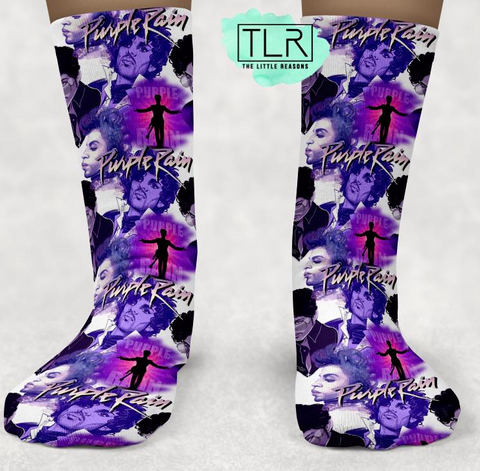 Prince Purple Rain Socks