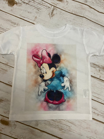 Minnie Mouse Watercolor Tee