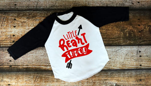 Little Heart Throb Raglan - The  Little Reasons