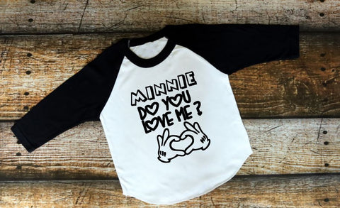 Minnie Do You Love Me Raglan - The  Little Reasons