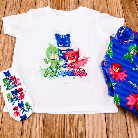 PJ Masks Watercolor Tee - The  Little Reasons