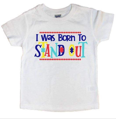 I Was Born To Stand Out Puzzle Piece Tee - The  Little Reasons