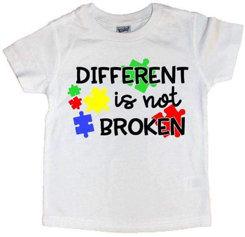 Different Is Not Broken Puzzle Piece Tee - The  Little Reasons