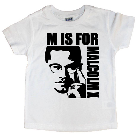 M is for Malcolm X Tee - The  Little Reasons