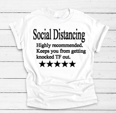 Social Distancing Adult Tee - The  Little Reasons