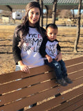 He/She Has Me For Life Raglan - The  Little Reasons