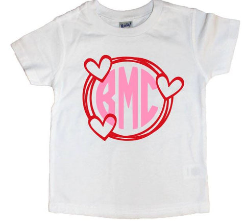 Valentine Frame Monogram Tee - The  Little Reasons
