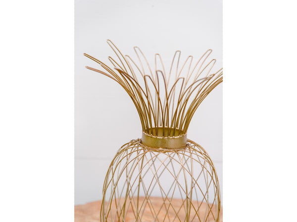 Gold Pineapple Votive | Adorn Charleston