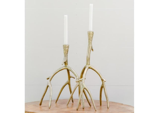 Gold Antler Candle Holder Set | Adorn Charleston
