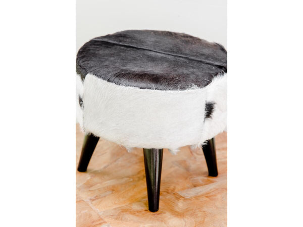 Black Hide Stool | Adorn Charleston
